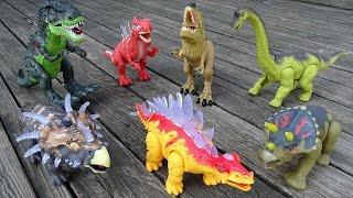 Dinosaur Walking Tyrannosaurus Rex Triceratops Spinosaurus - Dinosaurs Toys Collection For kids thumbnail