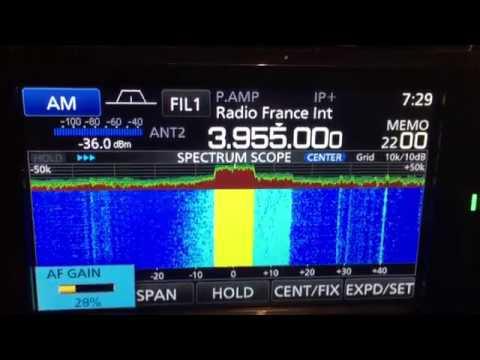 DRM - Digital Radio Mondiale Test on 3.955 MHZ BBC World Service with Icom IC-R 8600