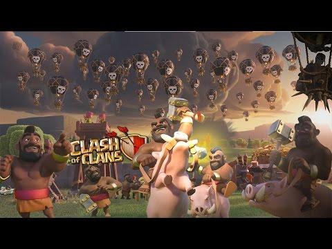 Clash of Clans | Fan Art | Balloon HogRider Event |  Wallpaper HD