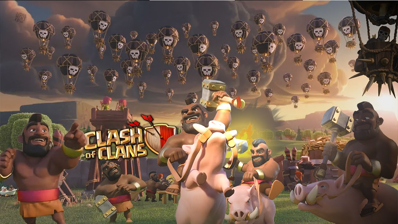 Clash of Clans Fan Art Balloon HogRider Event Wallpaper HD