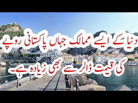 5 Countries where Pakistani rupees has High value great than dollar