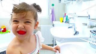 BRUSH YOUR TEETH SONG with Nastya | This Is The Way | Kids Songs | Настя и ее утренняя рутина