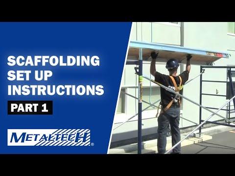 METALTECH Exterior Scaffolding Set Up Instructions - Part 1