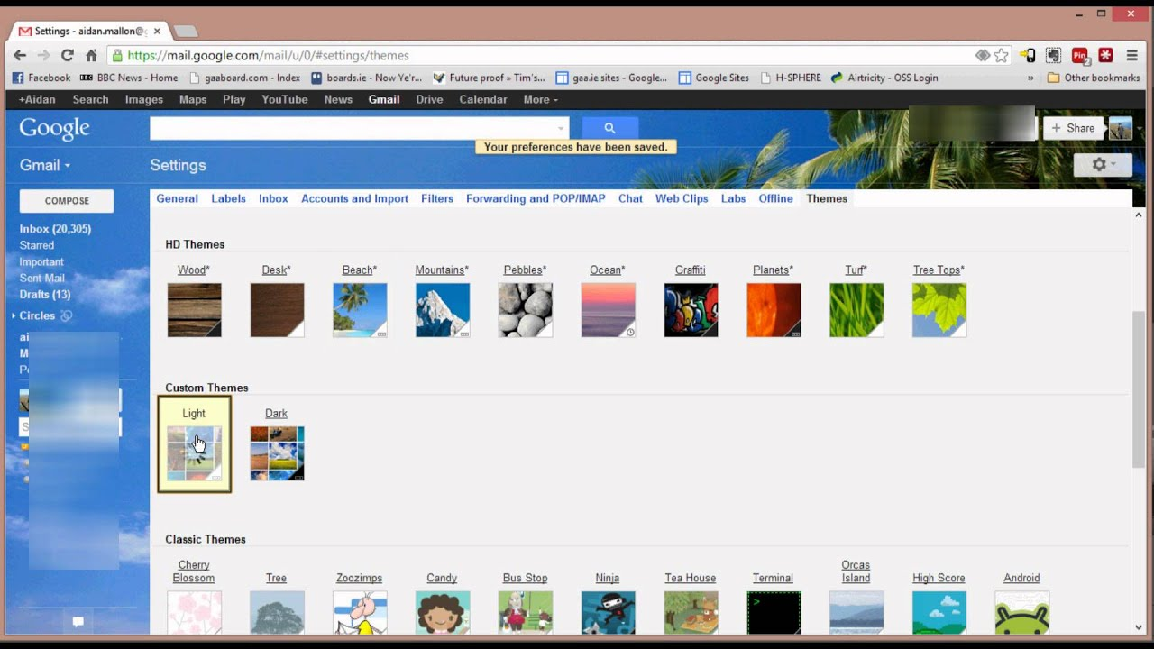 Google themes create your own - Customize Gmail Themes 2013 2016 11 10