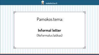 neoficialus laiškas, kaip numesti svorio)