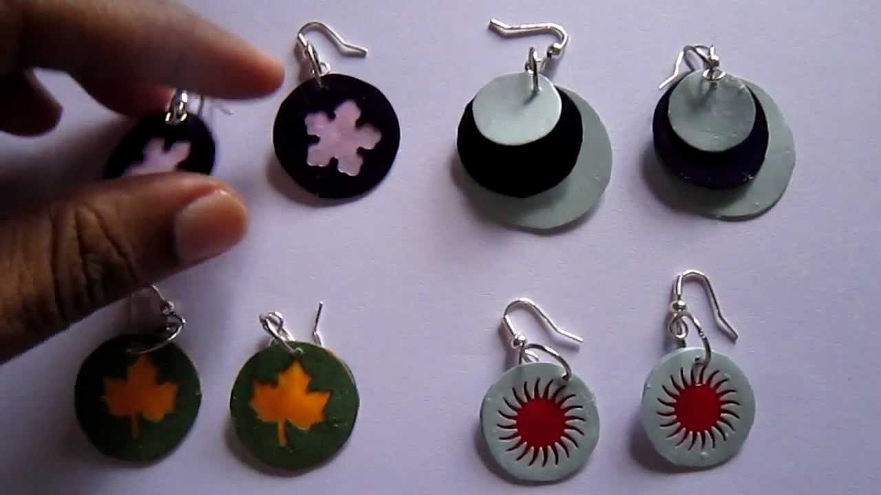 Handmade Jewelry Paper Punch Disk Earrings