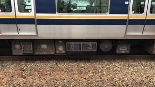 【日立SiC?】321系D7編成モハ321-14(PU換装試験車)走行音 / JR-321 sound