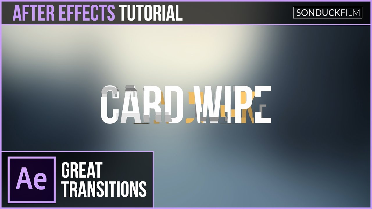 After effects tutorial: simple title animation tutorial #001 | vnp.