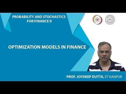 Lecture 04 : Optimization Models in Finance