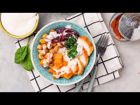 [EN] Chicken Buddha Bowl / بوذا بوول بالدجاج - CookingWithAlia - Episode 748