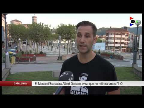 Un Mozo de Escuadra anuncia por televisión que no retirará las urnas