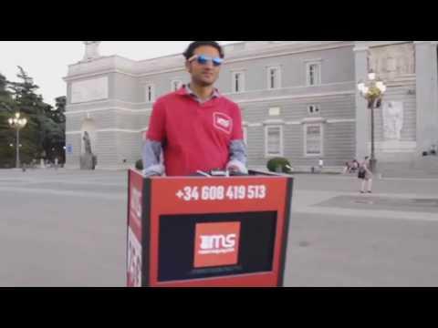 Madrid-Segway street marketing Tv display promo