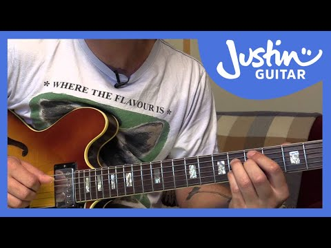 Jazz Standard: Blue Bossa - Chords - Kenny Dorham (Guitar Lesson JA-540)