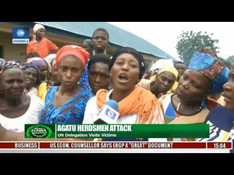 News Across Nigeria: UN Delegation Visits Victims Of Agatu Herdsmen Attack