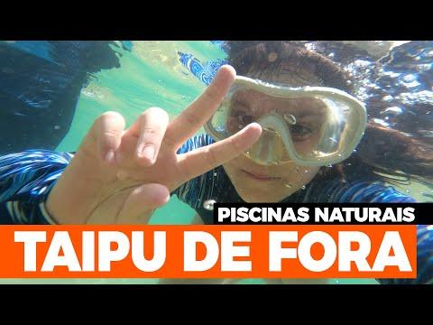 Piscinas naturais de Taipu de Fora - Península de Maraú na Bahia