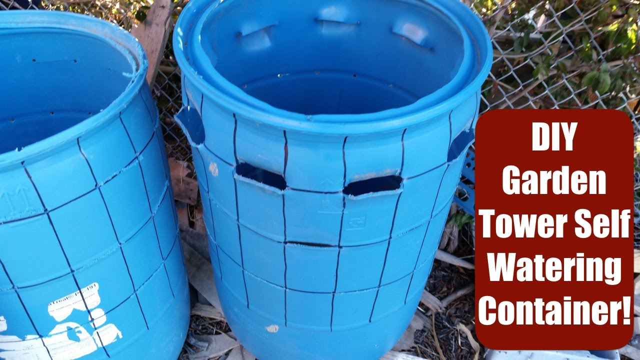 DIY Self Watering Container Using A 55 Gal Barrel! Garden Tower Style!
