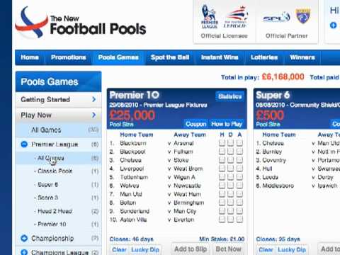 Choosing a Football Pools Online Betting Game - YouTube