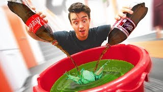 Trying 100 Different Sodas At Once!!