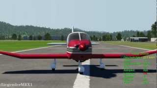Aerofly FS: Robin DR400 landing at Birrfeld
