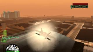gta sa f22 raptor m16a2 cannon mod and supersonic flight mod download link