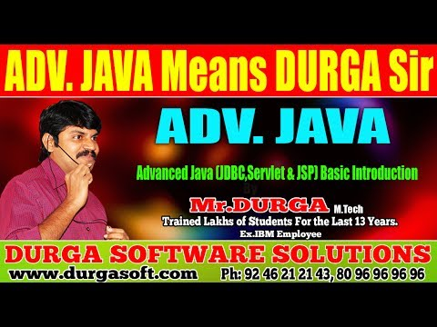 Advanced Java (JDBC,Servlet & JSP) Basic Introduction by Durga Sir