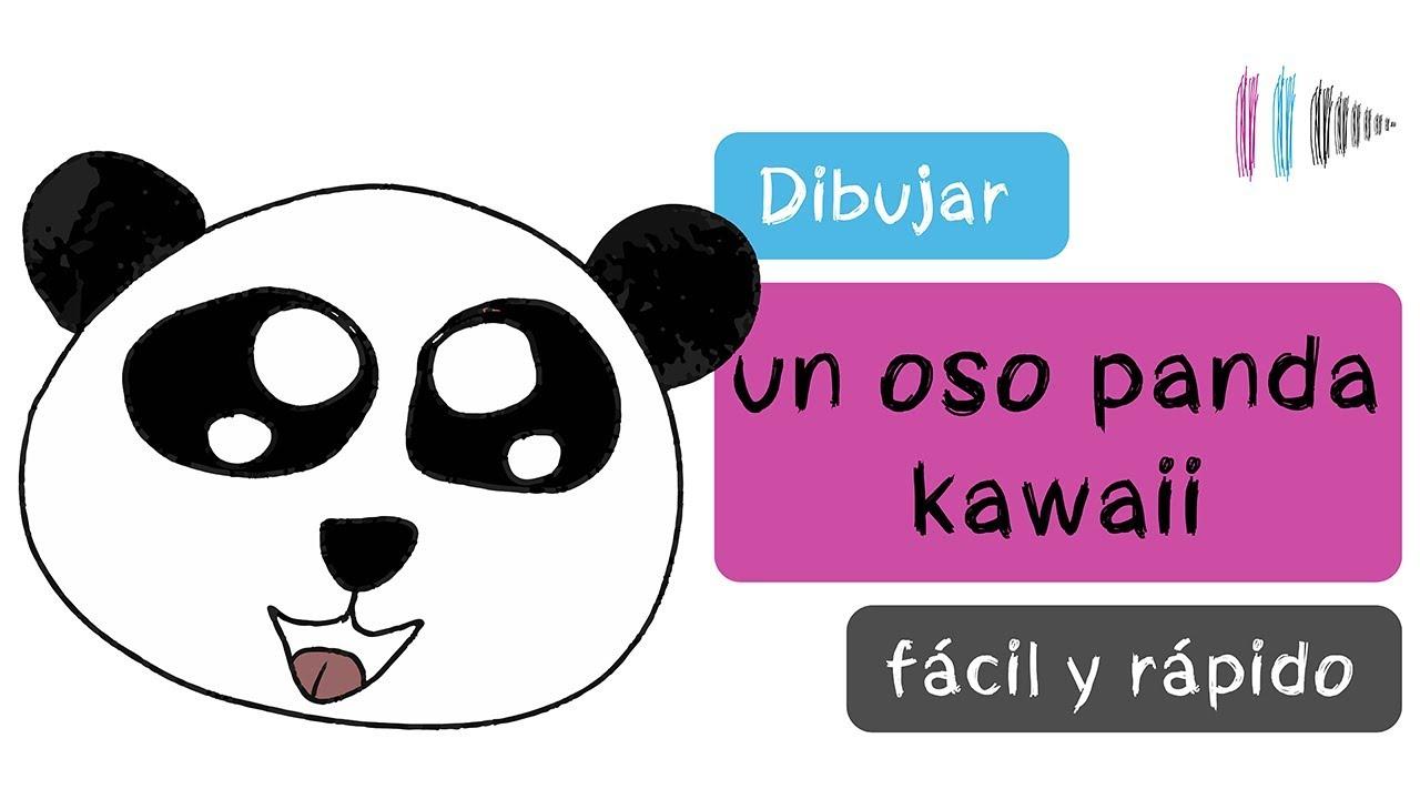 Cómo dibujar un oso panda estilo kawaii fácil y rápido | Mi dibujo de...