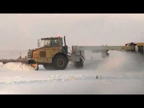 Snow-clearing At Arlanda Airport Volvo Construction Equipment