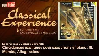 Jan Françaix : Cinq danses exotiques pour saxophone et piano : III. Mambo, Allegrissimo
