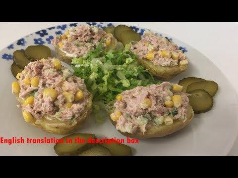 5 Minutes meal Potato & Tuna- وجبة بطاطا وتونه للغداء أو للعشاء تحضر ب٥ دقائق