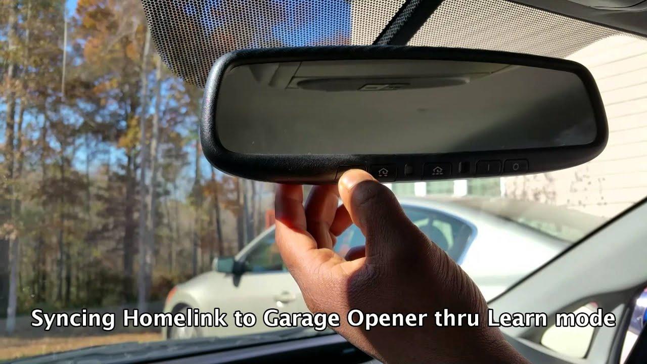 How To Program Toyota Prius Garage Opener Homelink Youtube