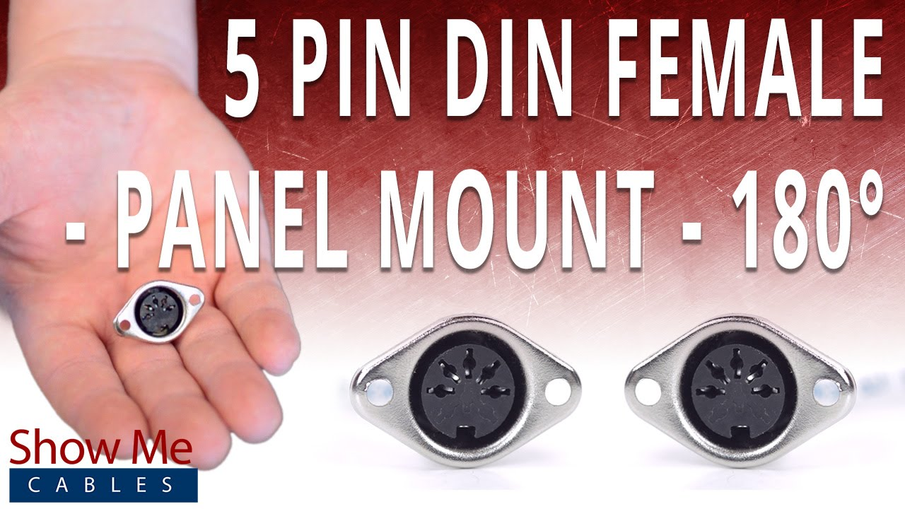 How To Install The 5 Pin Din Female Panel Mount Solder Connector Jack Wiring Youtube Premium