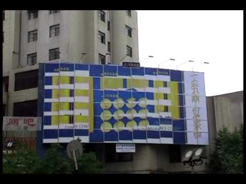 Outdoor six sides rolling advertising billboard building design billboard