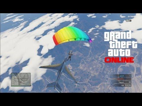 GTA 5: Online - Cargo Plane Stunt & Sky Demolition Derby