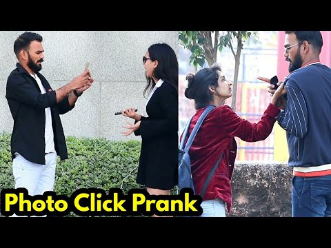 Clicking Cute Girl's Photo Prank Part 2 | Bhasad News | Pranks in India