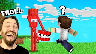 TNT İLE CEM'İ TROLLEDİM Minecraft Survival #13