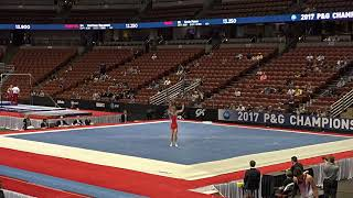 Curran Phillips - Floor Exercise - 2017 P&G Championships Junior Men Day 1