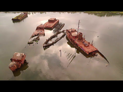 Staten Island Boat Graveyard - Aerial Footage | Dragonfly Drone Services | Philadelphia, PA