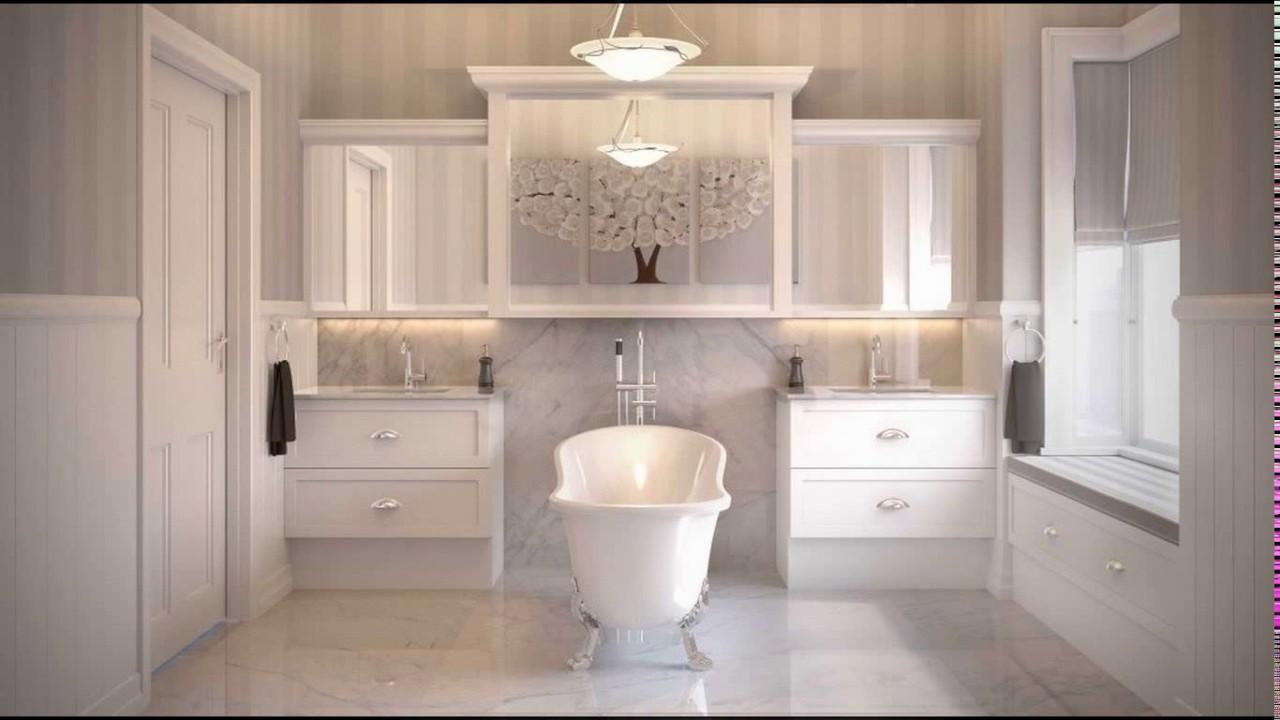 Hamptons style bathroom designs - YouTube