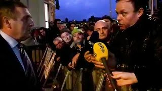 Tense scenes as Creed meets Dublin protesters