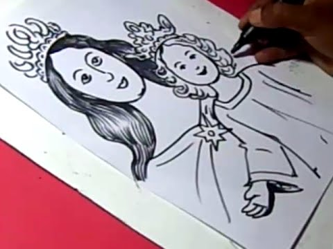How to draw meri matha jesus drawing step by step for kids