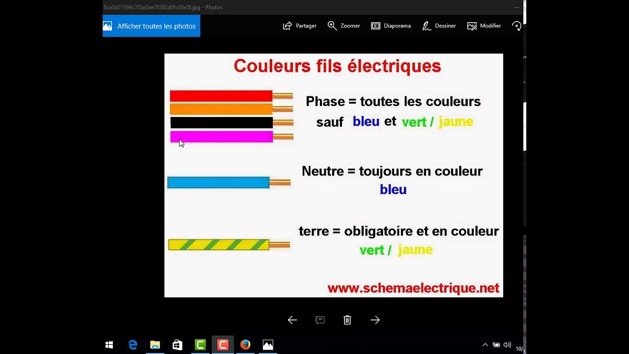 les couleurs fils electrique youtube. Black Bedroom Furniture Sets. Home Design Ideas