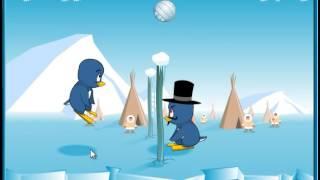 Пингвинний волейбол. Флэш игра для детей