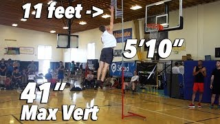 My Max Vertical Test + Measurements | Dunk Camp Day 1
