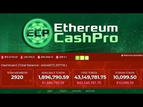 Ethereum Cash Pro ECP - Vou Ficar Multimilionário? Ou é Golpe?