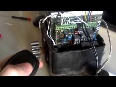 Programación del control para portones automáticos