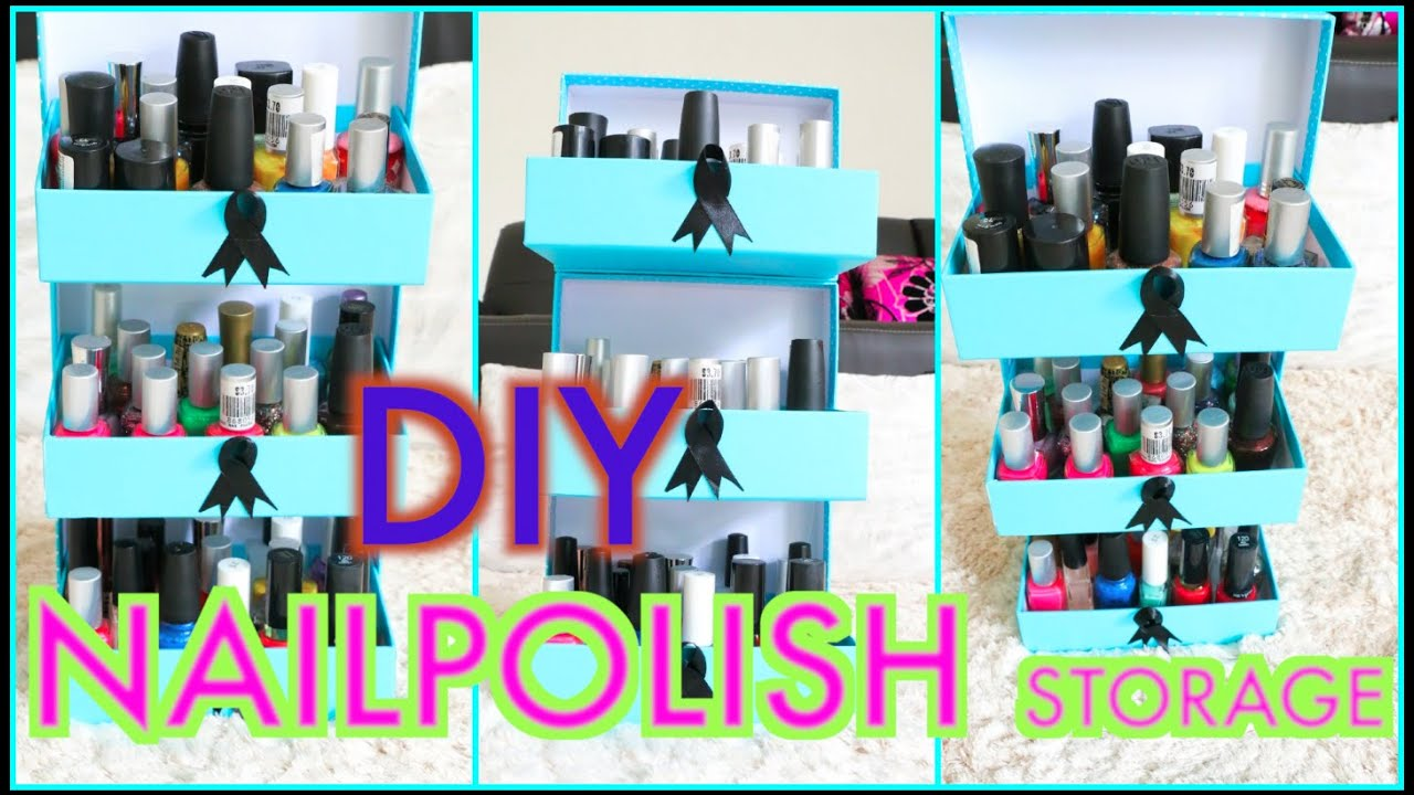 DIY Nail Polish Storage Using EMPTY Beauty Boxes | SuperPrincessjo ...
