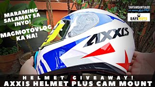 GIVEAWAY! AXXIS HELMET WITH ACTION CAM MOUNT