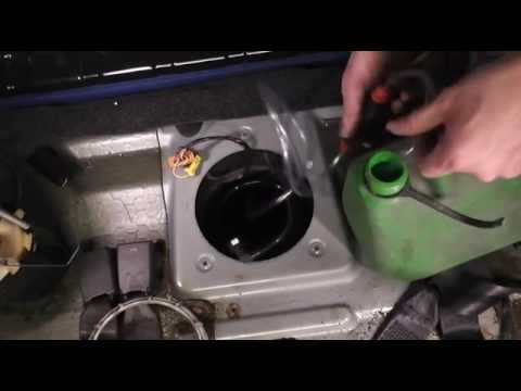How to siphon fuel out of a modern car