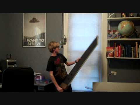 Full Size (wooden) Buster sword replica - YouTube