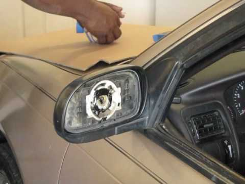 How to replace the glass on a side view mirror